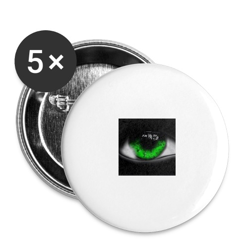 Green eye - Buttons large 2.2''/56 mm(5-pack)