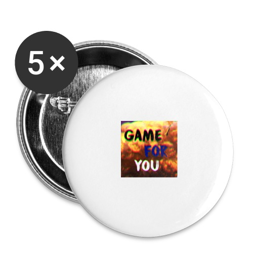 Badge pour la team et les fans GameForYou - Lot de 5 grands badges (56 mm)