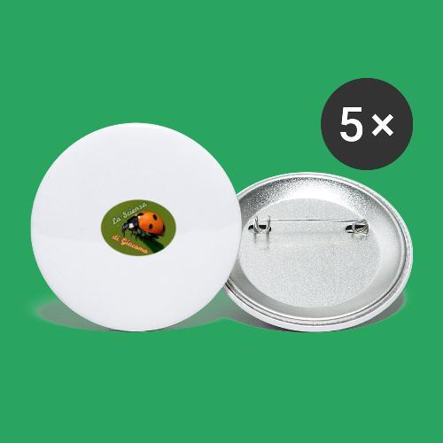 la scienza di Giacomo logo giusto tondo PNG - Confezione da 5 spille grandi (56 mm)