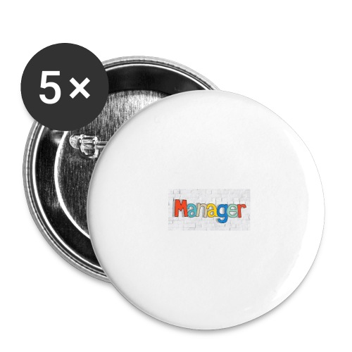 manager - Buttons/Badges stor, 56 mm (5-pack)