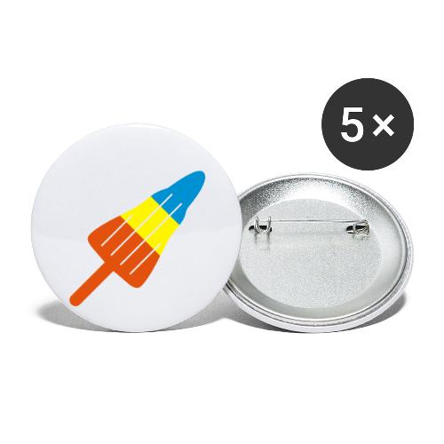 ZOOM ROCKET LOLLY: choose three different flavours - Buttons large 2.2''/56 mm(5-pack)
