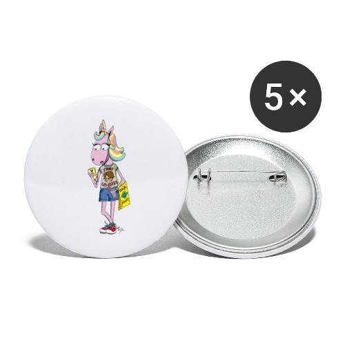 Licorne & Geek - Lot de 5 grands badges (56 mm)