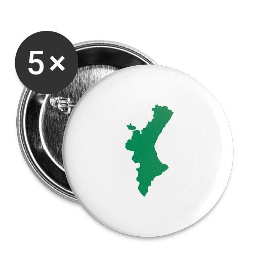 València - Paquete de 5 chapas grandes (56 mm)