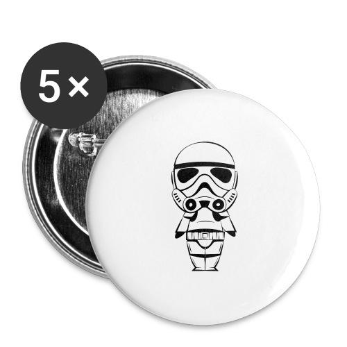 Stormtrooper - Lot de 5 grands badges (56 mm)