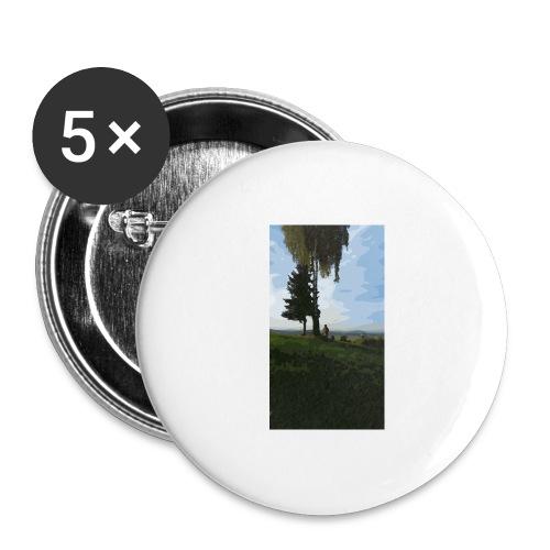 Nature - Buttons groß 56 mm (5er Pack)