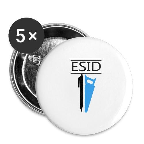 ESID Zwart-blauw - Buttons groot 56 mm (5-pack)