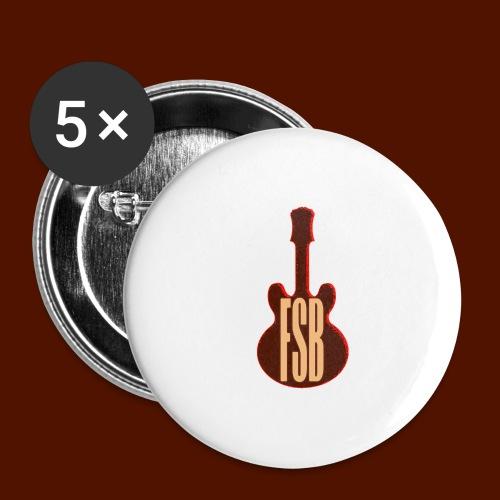 FSB Guitar Logo - Buttons large 2.2''/56 mm(5-pack)