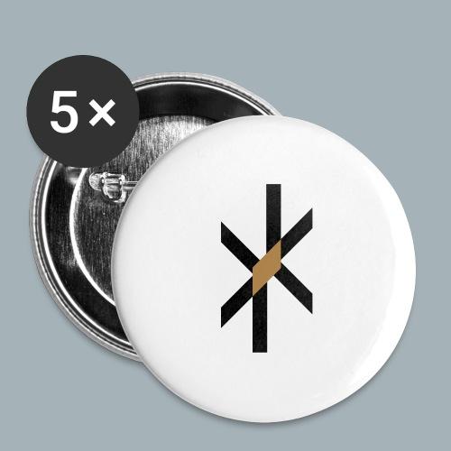 Orbit Premium T-shirt - Buttons groot 56 mm (5-pack)