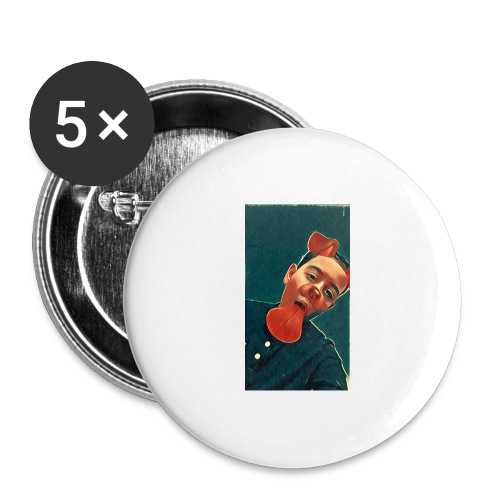 More MK21's Merch - Buttons large 2.2''/56 mm (5-pack)