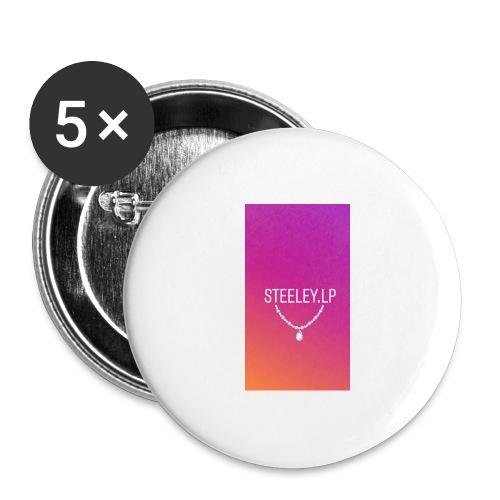 SteeleyLP👑 - Buttons groß 56 mm (5er Pack)