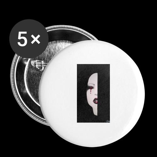BlackWhitewoman - Confezione da 5 spille grandi (56 mm)
