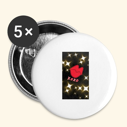 XOXO - Buttons groß 56 mm (5er Pack)