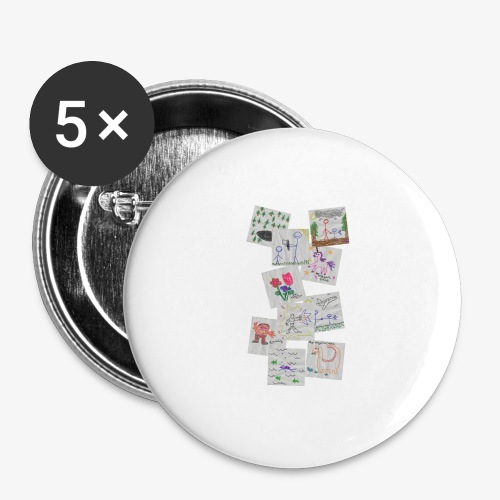 Drawings - Buttons large 2.2''/56 mm(5-pack)
