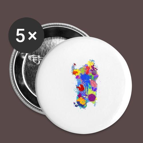 Sardegna Silhouette Paint - Confezione da 5 spille grandi (56 mm)