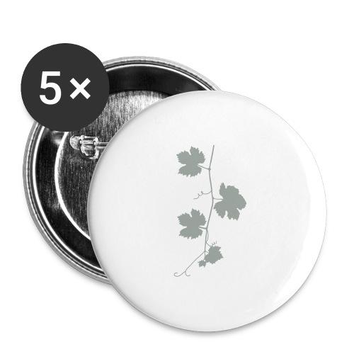 weinrebe - Buttons groß 56 mm (5er Pack)