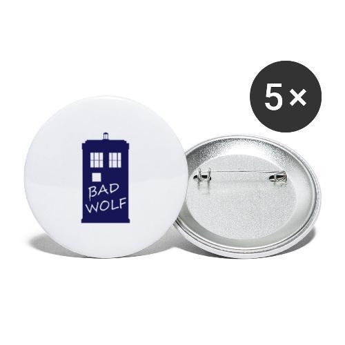 Bad Wolf Tardis - Lot de 5 grands badges (56 mm)