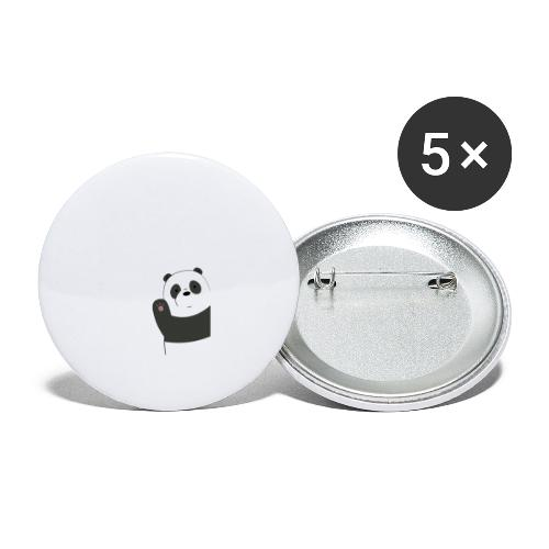 We bare bears panda design - Buttons groot 56 mm (5-pack)