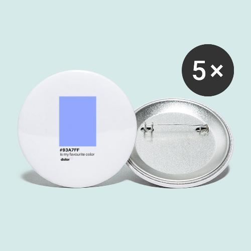 #93A7FF - Buttons groß 56 mm (5er Pack)