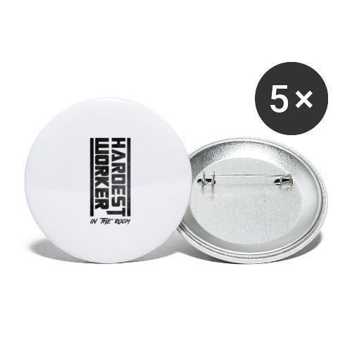 Hardest Worker - Buttons groß 56 mm (5er Pack)