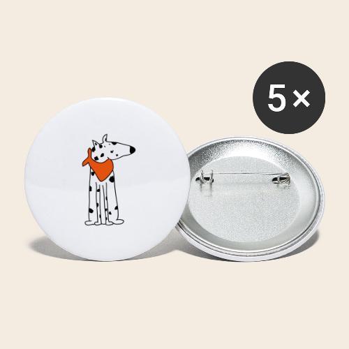 mignon dalmatien - Lot de 5 grands badges (56 mm)