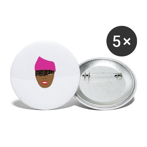 Pink lady - Stora knappar 56 mm (5-pack)