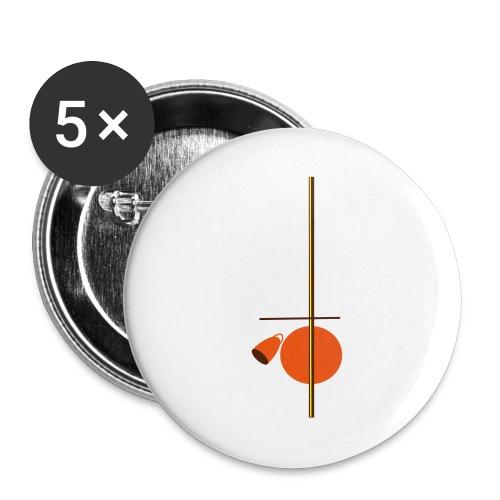 berimbau caxixi - Buttons large 2.2''/56 mm(5-pack)
