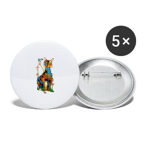 Matou - Lot de 5 grands badges (56 mm)