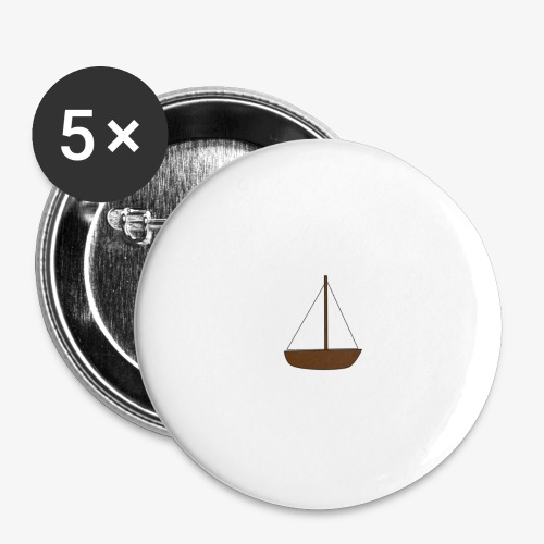 Boat Sticker - Buttons large 2.2''/56 mm(5-pack)