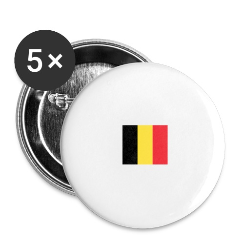 vlag be - Buttons groot 56 mm (5-pack)