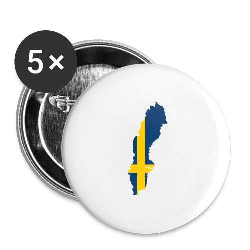 Sweden - Buttons groot 56 mm (5-pack)