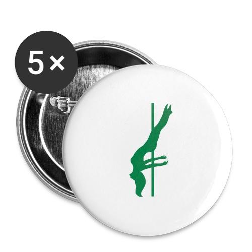 Pole Dance - Confezione da 5 spille grandi (56 mm)