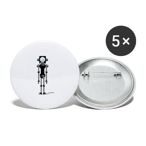 gambots roboter 04 - Buttons groß 56 mm (5er Pack)