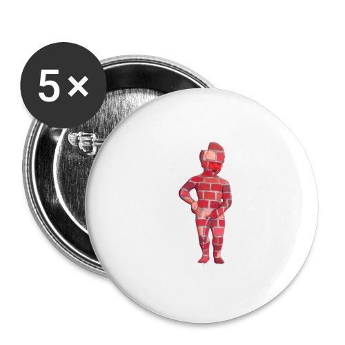 BRiCO ♀♂ | mannekenpis - Lot de 5 grands badges (56 mm)