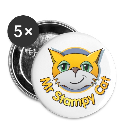 Stampy Sky thumb jpg - Buttons large 2.2''/56 mm (5-pack)