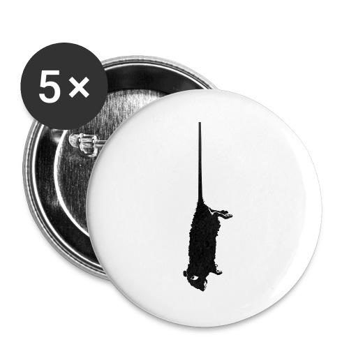 rat mort pendu - Lot de 5 grands badges (56 mm)