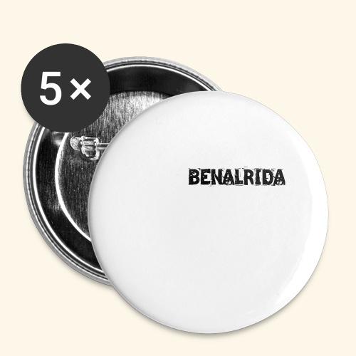 BenalRida HD black png - Paquete de 5 chapas grandes (56 mm)