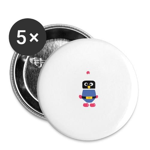Pingouin Dyna - Lot de 5 grands badges (56 mm)