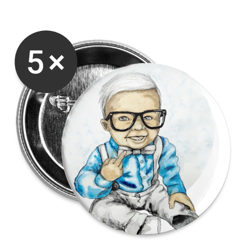 Naughty Boy, carographic - Buttons groß 56 mm (5er Pack)
