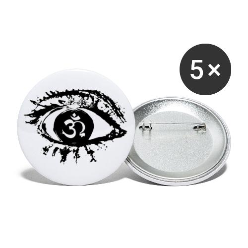 Aumega Eye Black - Buttons large 2.2''/56 mm (5-pack)