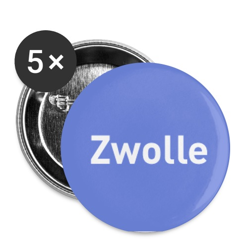 zwolle groot - Buttons groot 56 mm (5-pack)