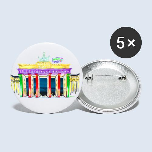 Neu! Brandenburger Tor/BerlinLightShow Collection - Buttons groß 56 mm (5er Pack)