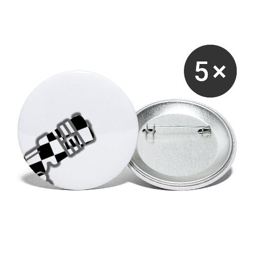 Microphone - Buttons groß 56 mm (5er Pack)