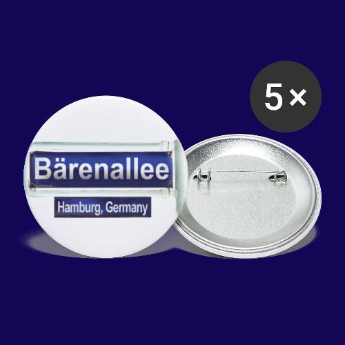Bärenallee, altes Straßenschild Hamburg - Buttons groß 56 mm (5er Pack)
