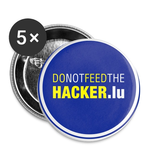 DoNotFeedTheHacker2 - Buttons large 2.2''/56 mm (5-pack)
