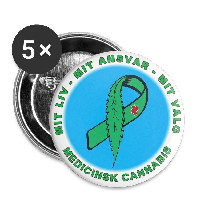 Kampagnebadge Blå Grøn