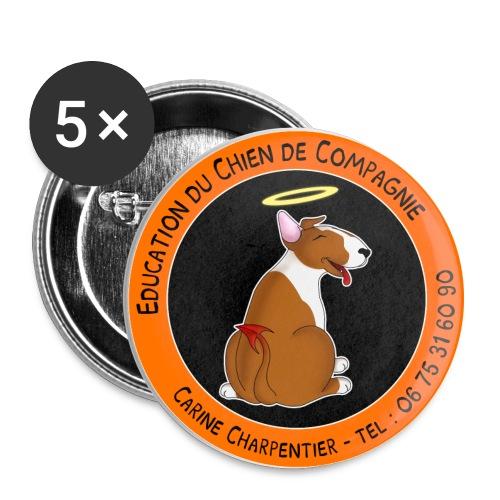 logo tel copie png - Lot de 5 grands badges (56 mm)