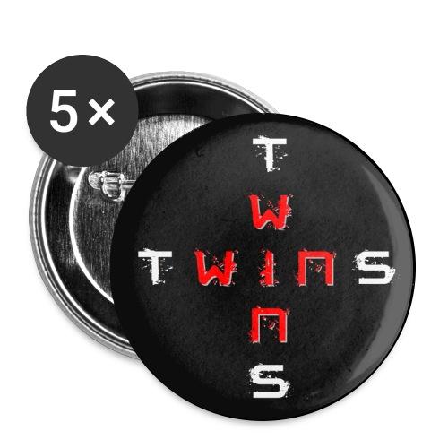 TWINS doppelt Hintergrund png - Buttons groß 56 mm (5er Pack)