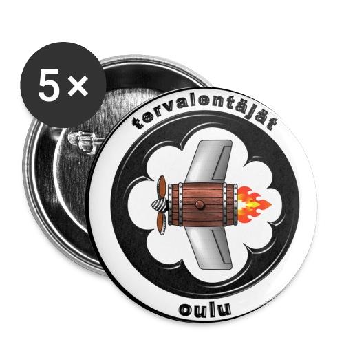 tervalentajat logo - Rintamerkit isot 56 mm (5kpl pakkauksessa)