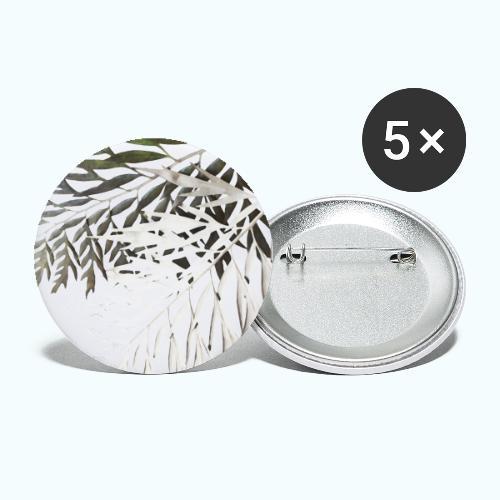 Pale leaf Zen watercolor nature - Buttons large 2.2''/56 mm(5-pack)