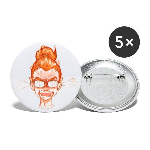 Sue Doe react --rage - Buttons large 2.2''/56 mm(5-pack)